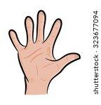 image of cartoon human hand ... | Shutterstock .eps vector #323677094