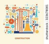 construction concept design on... | Shutterstock .eps vector #323678081