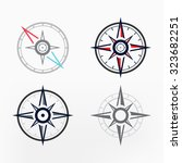 vector compass icon | Shutterstock .eps vector #323682251