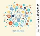 idea creative concept design on ... | Shutterstock .eps vector #323685335