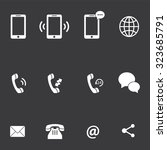 mobile icon set . vector... | Shutterstock .eps vector #323685791