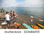 kos  greece   sep 28  2015 ... | Shutterstock . vector #323686055