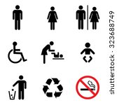 people icon set . toilet... | Shutterstock .eps vector #323688749