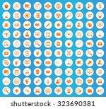 science icons set  orange image ...
