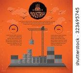 warehouse cargo shipping design ... | Shutterstock .eps vector #323695745