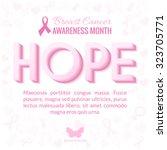 breast cancer awareness month... | Shutterstock .eps vector #323705771