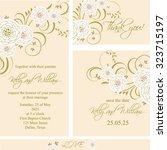 wedding invitation  thank you...   Shutterstock .eps vector #323715197