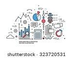 flat style  thin line art... | Shutterstock .eps vector #323720531
