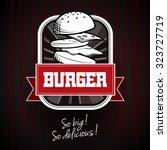 Vector Burger Logotype Templat...