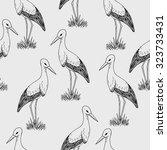 vector monochrome background... | Shutterstock .eps vector #323733431