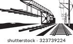 construction of railway track   ... | Shutterstock .eps vector #323739224