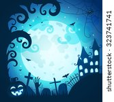 halloween poster and card.... | Shutterstock .eps vector #323741741