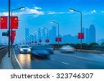 urban transport and haze | Shutterstock . vector #323746307