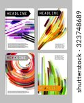 flayer  cover  business card... | Shutterstock .eps vector #323748689