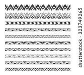 hand drawn vector borders ... | Shutterstock .eps vector #323749265