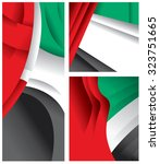 uae abstract flag  united arab... | Shutterstock .eps vector #323751665