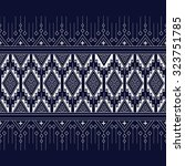 geometric ethnic pattern design ... | Shutterstock .eps vector #323751785