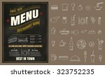 restaurant fast foods menu on... | Shutterstock .eps vector #323752235