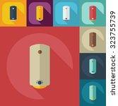 flat concept  set modern design ... | Shutterstock .eps vector #323755739