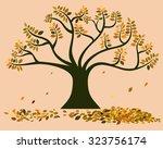 Vector Of Big Tree In Autumn ...