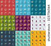 flat concept  set modern design ... | Shutterstock .eps vector #323756564