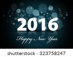 image of happy new year words... | Shutterstock . vector #323758247