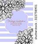 vintage delicate invitation... | Shutterstock .eps vector #323758901