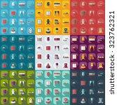 flat concept  modern design... | Shutterstock .eps vector #323762321