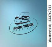 food truck icon on gradient... | Shutterstock .eps vector #323767955