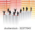 illustration of business people ...   Shutterstock .eps vector #32377045