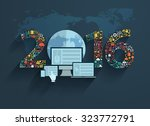 flat design concepts set... | Shutterstock .eps vector #323772791