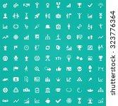 success 100 icons universal set ... | Shutterstock . vector #323776364