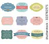 vintage label sweet color and... | Shutterstock .eps vector #323782571
