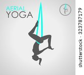 flying yoga logo template. anti ... | Shutterstock .eps vector #323787179