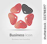 originally created business... | Shutterstock .eps vector #323788397