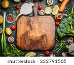 fresh vegetables and ... | Shutterstock . vector #323791505