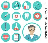 medical icons. medical... | Shutterstock .eps vector #323792117