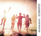 friendship freedom beach summer ... | Shutterstock . vector #323800955