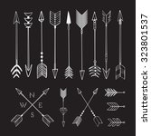 hand drawn arrows. fighting... | Shutterstock .eps vector #323801537