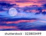 Moon Clouds Birds Is A Soft...