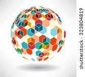 background of colorful cubes in ... | Shutterstock .eps vector #323804819