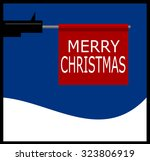 gun barrel shooting merry... | Shutterstock .eps vector #323806919