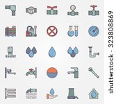 water supply icons   vector set ... | Shutterstock .eps vector #323808869