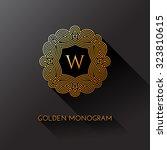 golden elegant monogram with...   Shutterstock .eps vector #323810615