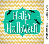 cute halloween invitation or... | Shutterstock .eps vector #323811641