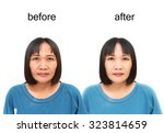asian middle aged woman before... | Shutterstock . vector #323814659