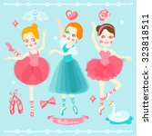 Beautiful Ballerinas Vector...