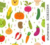 seamless pattern with... | Shutterstock .eps vector #323832344