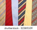 background texture of the tie | Shutterstock . vector #32385109