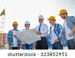 business  building  teamwork... | Shutterstock . vector #323852951